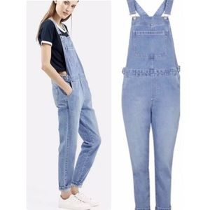 Topshop Moto Overall Jeans. Size W28